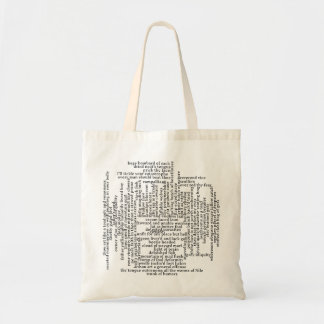 Shakespeare Insults List Funny Theatre Tote Bag