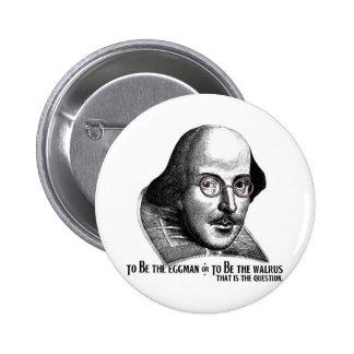 Shakespeare Lennon II Pinback Button