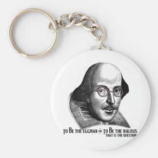 Shakespeare Lennon II Basic Round Button Key Ring
