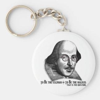 Shakespeare Lennon II Basic Round Button Key Ring