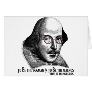 Shakespeare Lennon II Greeting Card