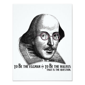 Shakespeare Lennon II 11 Cm X 14 Cm Invitation Card