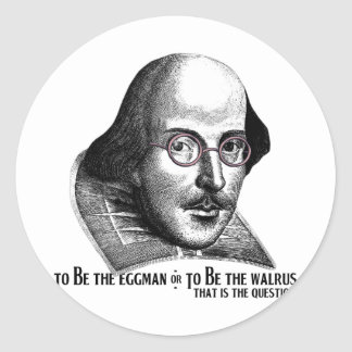 Shakespeare Lennon II Round Sticker