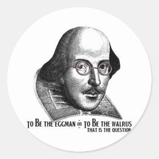 Shakespeare Lennon II Round Sticker
