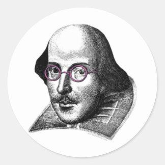 Shakespeare Lennon Round Sticker