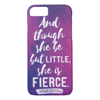 Shakespeare - Little and fierce iphone 7 case