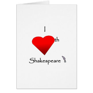 Shakespeare Love Card