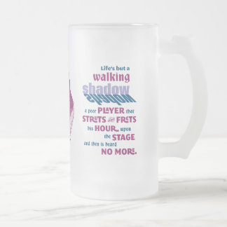 Shakespeare Macbeth Quotation Frosted Glass Mug