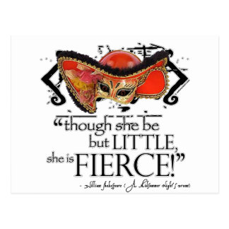 Shakespeare Midsummer Night's Dream Fierce Quote Postcard