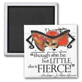 Shakespeare Midsummer Night's Dream Fierce Quote Square Magnet