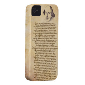 Shakespeare on your iPhone - Hamlet Case-Mate iPhone 4 Cases