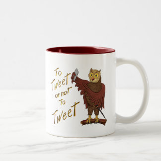 SHAKESPEARE OWL Two-Tone COFFEE MUG