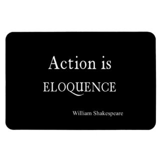 Shakespeare Personalized Quote Action is Eloquence Rectangular Photo Magnet