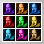 Shakespeare Pop Art Poster