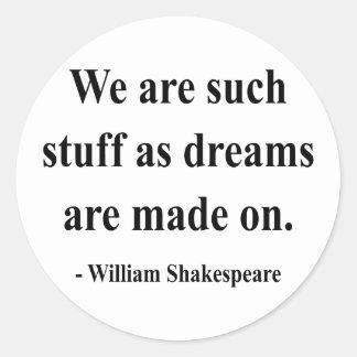 Shakespeare Quote 2a Round Sticker