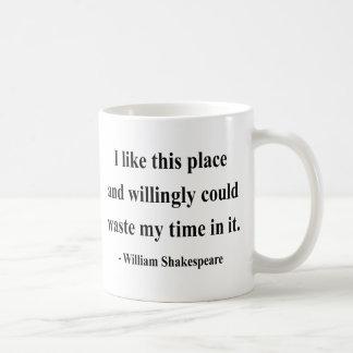 Shakespeare Quote 6a Basic White Mug