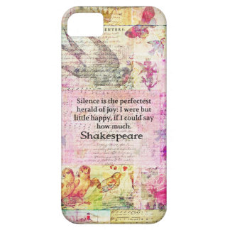Shakespeare quote about JOY and SILENCE iPhone 5 Covers