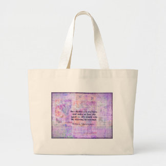 Shakespeare quote COURAGE FEAR with art Bags