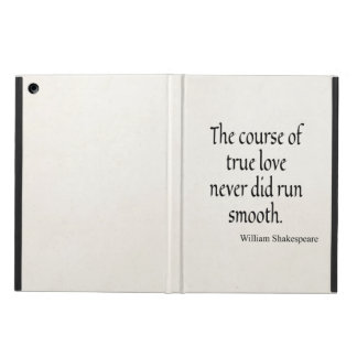 Shakespeare Quote Course of True Love Run Smooth iPad Air Cover