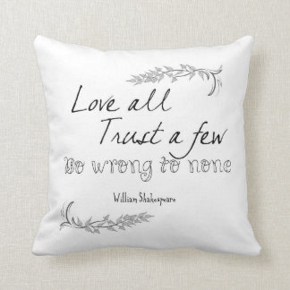Shakespeare Quote Cushion