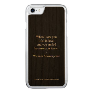 Shakespeare Quote - I Fell In Love Carved iPhone 8/7 Case