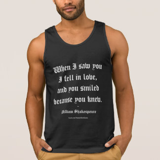 Shakespeare Quote - I Fell In Love Singlet