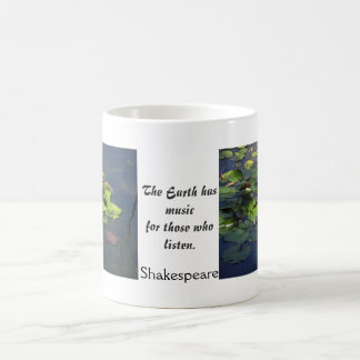 Shakespeare Quote Lilypond Garden Double Photo Mug