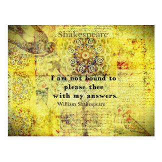 Shakespeare Quote Postcard
