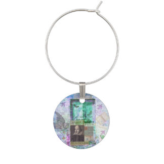 Shakespeare romantic whimsical LOVE quote with art Wine Charm