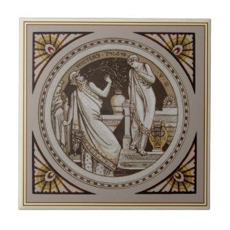 "Shakespeare""s Winter's Tale Antique Repro Minton Tile"