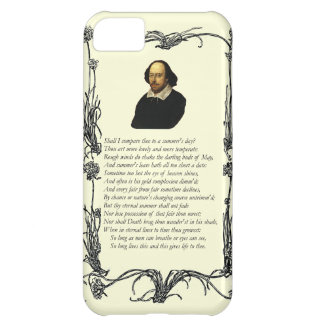 Shakespeare Shall I compare thee to a summer's day iPhone 5C Case
