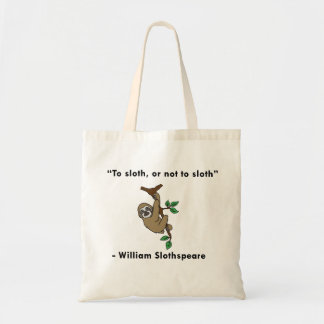 Shakespeare Sloth Tote