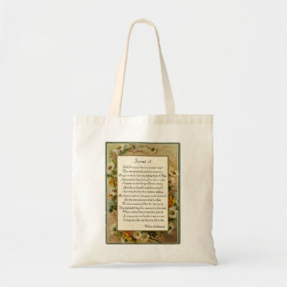 Shakespeare Sonnet 18 Budget Tote Bag