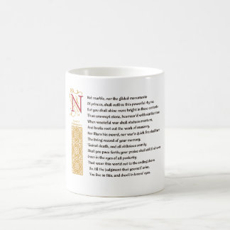 Shakespeare Sonnet 55 (LV) on Parchment Coffee Mug