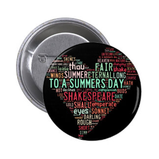 Shakespeare Sonnet Buttons