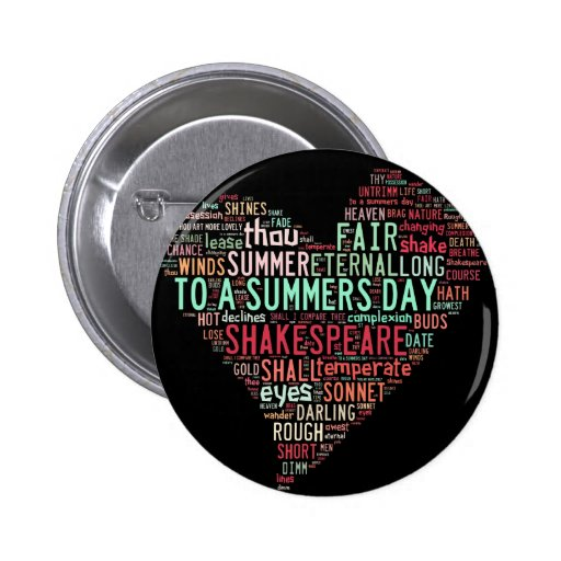 Shakespeare Sonnet Buttons