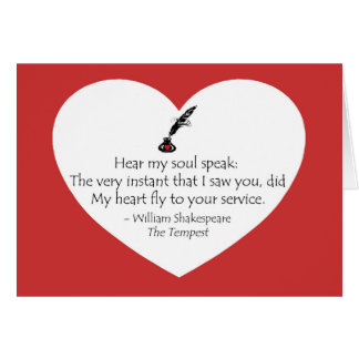 Shakespeare Soul Card