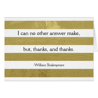 Shakespeare Thank You Card
