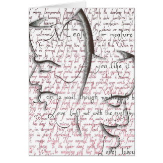 Shakespeare, Theatre Masks Greeting Card