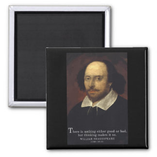 Shakespeare 'Thinking' quote magnet