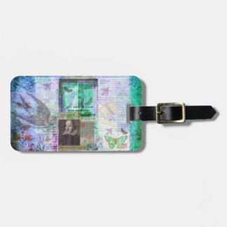 Shakespeare whimsical LOVE quote Luggage Tag