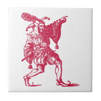 Shakespearean Jester Ceramic Tile