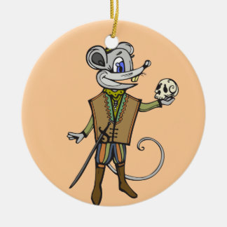Shakespearean Mouse Christmas Tree Ornament