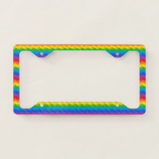 Shaking Rainbow Licence Plate Frame