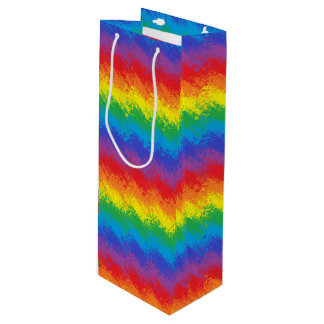 Shaking Rainbow Wine Gift Bag