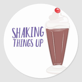 Shaking Up Classic Round Sticker