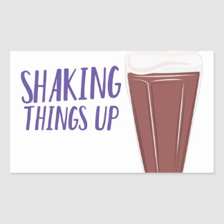 Shaking Up Rectangular Sticker