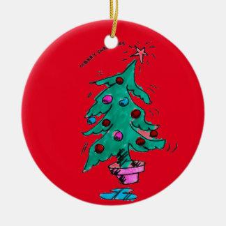 Shaky Christmas Tree - Merry Christmas Ceramic Ornament