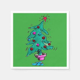 Shaky Christmas Tree Napkins Paper Serviettes