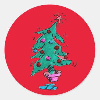 Shaky Christmas Tree Stickers